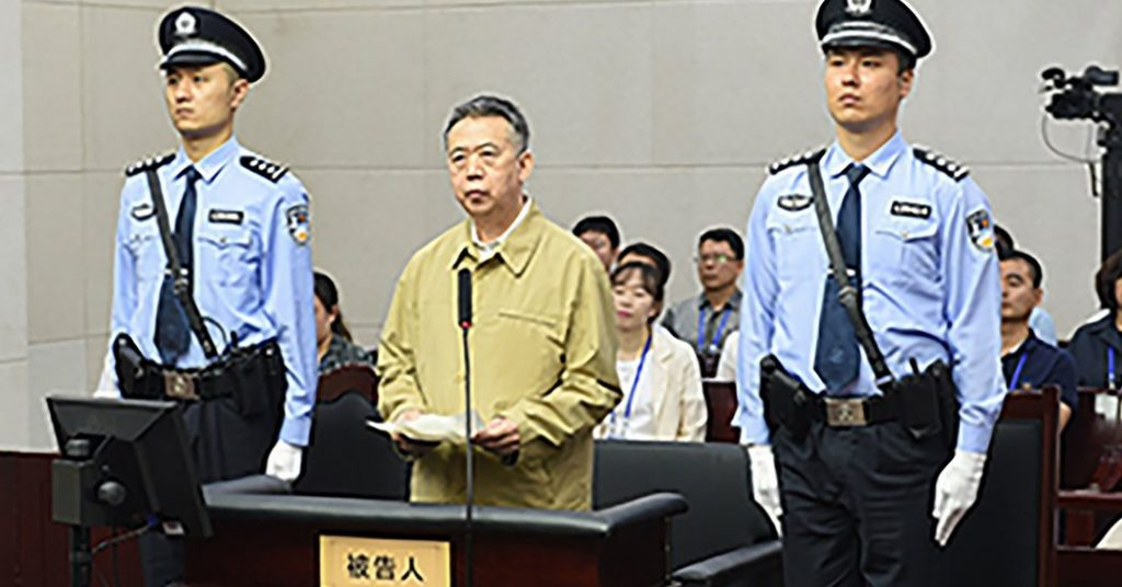 Ex-President of Interpol Is Sent to Prison for Bribery in China